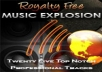 give you 25 of my newly recorded MUSIC TRACKS with full ROYALTY RIGHTS