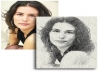 create an awesome sketch of your photograph in great resolution for