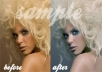 professionally retouch / airbrush / correct 2 photos