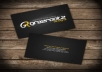 design or redesign/improve your business card