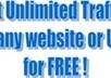 give you a website link where i get easy completely free traffic