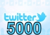 increase 5000 real twitter followers to your account just within 12 hours without pass
