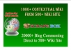 Create Excellent Link Pyramid 1000+ Contextual wiki backlink and Blast upto 20K blog commenting