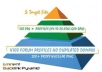 build eminent backlink pyramid with 5000 profiles links from different domains with 90 percent dofollow