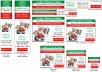 create 1 set of 9 Static Banner Ads for your website