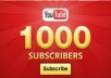 rapidly deliver 1000 REAL SUBSCRIBERS to your YouTube Channel in 72 hours or less