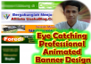 make an eye catchy cool unique professional animated web banner