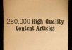 send you over 280000 exceptional quality PLR private label rights content articles