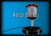 record a professional voice over up to 60 seconds