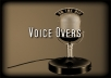 record a professional voice over with music bed up to 60 seconds