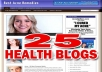 Give You 25 High Quality Plr BlOGS In Evergreen Health Niche Comes In Wordpress Format