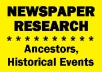 find 20 old newspaper articles for you