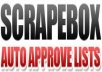 give you the latest freshly harvested massive Scrapebox list for april 2012 auto approve list trackback list and more