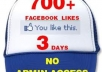 add 700+ likes to your facebook fanpage in but twenty four hours while not admin access
