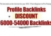 Create 6000 Profile Backlinks