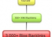 create a strong Wiki BackLink Pyramid with 300+ Wiki backlinks and three,000+ Blog Backlinks to assist push your web site to the highest