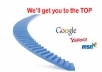 Offer you a new SEO package for one website url for once