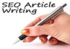 Make You an Awesome on Page SEO Article, Review or Press release On Any Topic