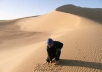 write anything you want in the DESERT sand and take a picture