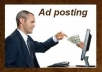 post 175 BACKPAGE ADS for your business or service