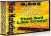 Gift You 8,605 Niche Marketing Words And Phrases That Sell Like Crazy! with Many Bonus