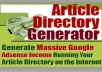 Gift You Article Directory Generator with Many Bonus