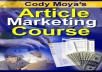 Gift You Article Marketing Course with Many Bonus