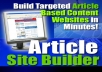 Gift You Article Site Builder with Many Bonus