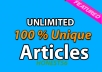 teach you How to Create Fresh and Unique ARTICLES in 1 Minute with Copyscape passed + Bonus