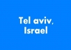 distribute 40 flyers in tel aviv city israel with proof