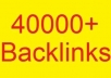 I will give you ★★40000+★★ comment backlinks for