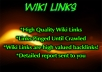 I will submit your article to get you 1200 high PR wiki Backlinks Including real us edu sites