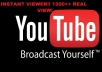 get you 1500 or more fast and REAL YouTube views on your video in 24 hours to boost yourself or brand