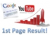 Give You The Best Guide which Bring Your YOUTUBE Video in First Page Within 60 minutes or Less