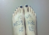 Write any message on my feet