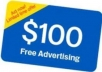 give 1x100 Dollar Google Adwords Coupons of 1 Year Validity