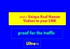 send 5000+ Unique Real Human Visitors to your LINK and proof for the traffic just