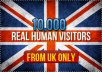 send 10,000 real human visitors from UK to your site