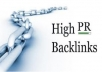 manually submit your site to 50 high PR directories pr 2 to pr7