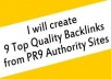 create 9 high quality Backlinks from ® PR9 Authority Sites in Real Angela vogue Panda Update Friendly