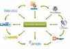LiNKWHEEL submit create your article MANUALLY to 6 web 2 0 site PR6to8 and 4000 wikis layer2