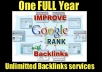 give you one year unlimited backlinking services