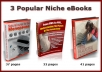 give you 3 ebooks and 121 articles on Menopause  Andropause  - Hot Niches !!!
