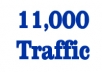 deliver 11,000 traffic to your website
