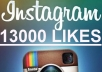 add On Your Instagram Photo 13000 Likes, Very Fast, You Can Spread Them Over More Photos