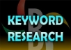 do indepth keyword research and provide high traffic, low competition keyphrases on a given niche using market samurai