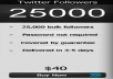 add 25000 twitter followers on your twitter account
