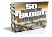 give you 50 ways to build backlinks