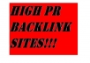 Give you a rankings boost when you use this high PR list for backlinks