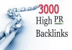 Help you rocket your rankings with this high PR list of over 3000 urls